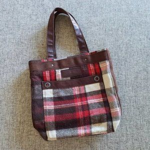 Abercrombie & Fitch Plaid Tote Bag
